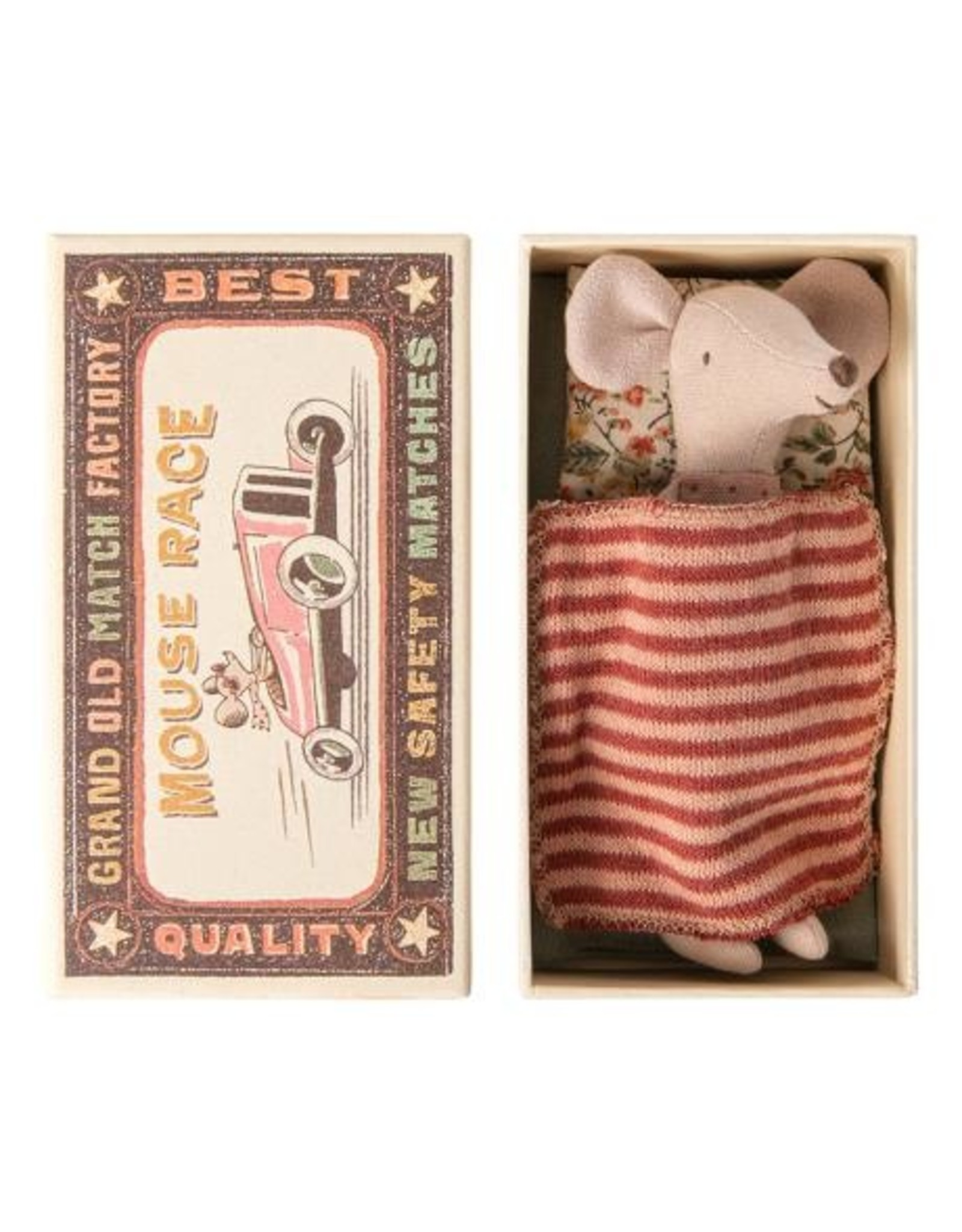 Maileg Big Sister Mouse 1 in Matchbox - 12 cm