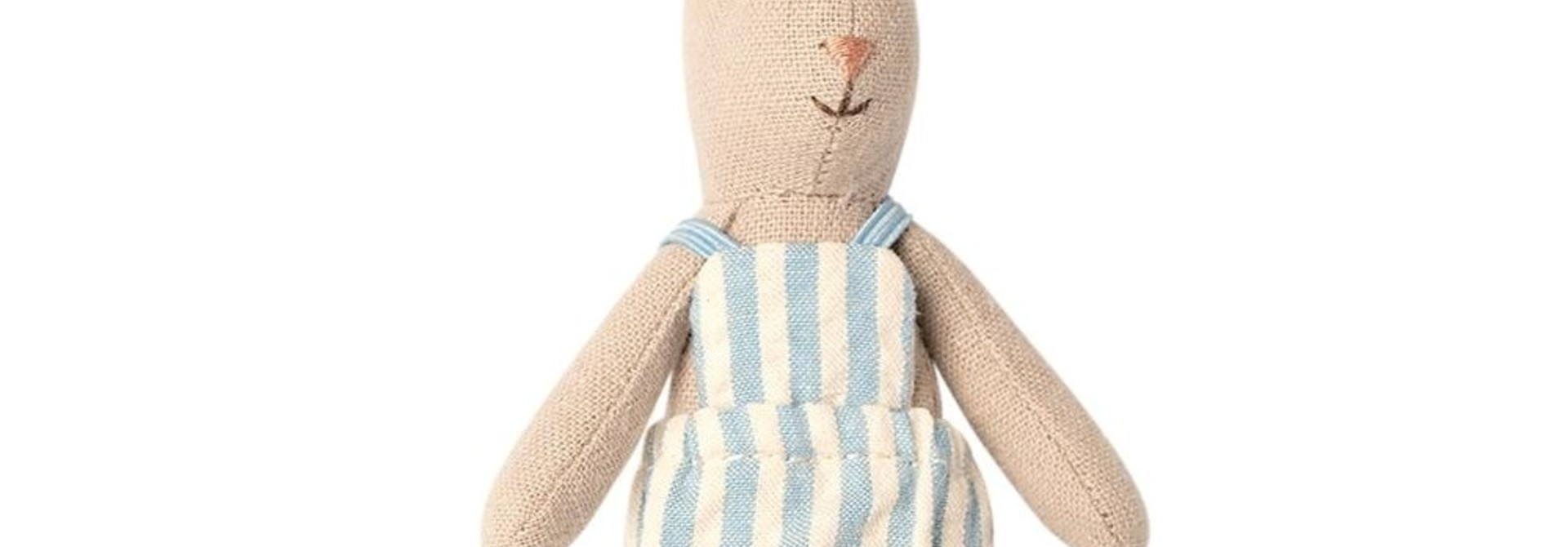 Rabbit with Blue Striped Suit - Micro 16 cm