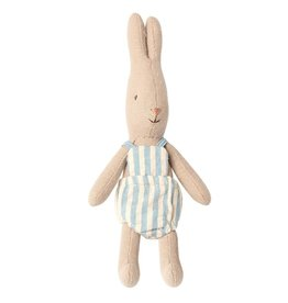 Maileg Rabbit with Blue Striped Suit - Micro 16 cm