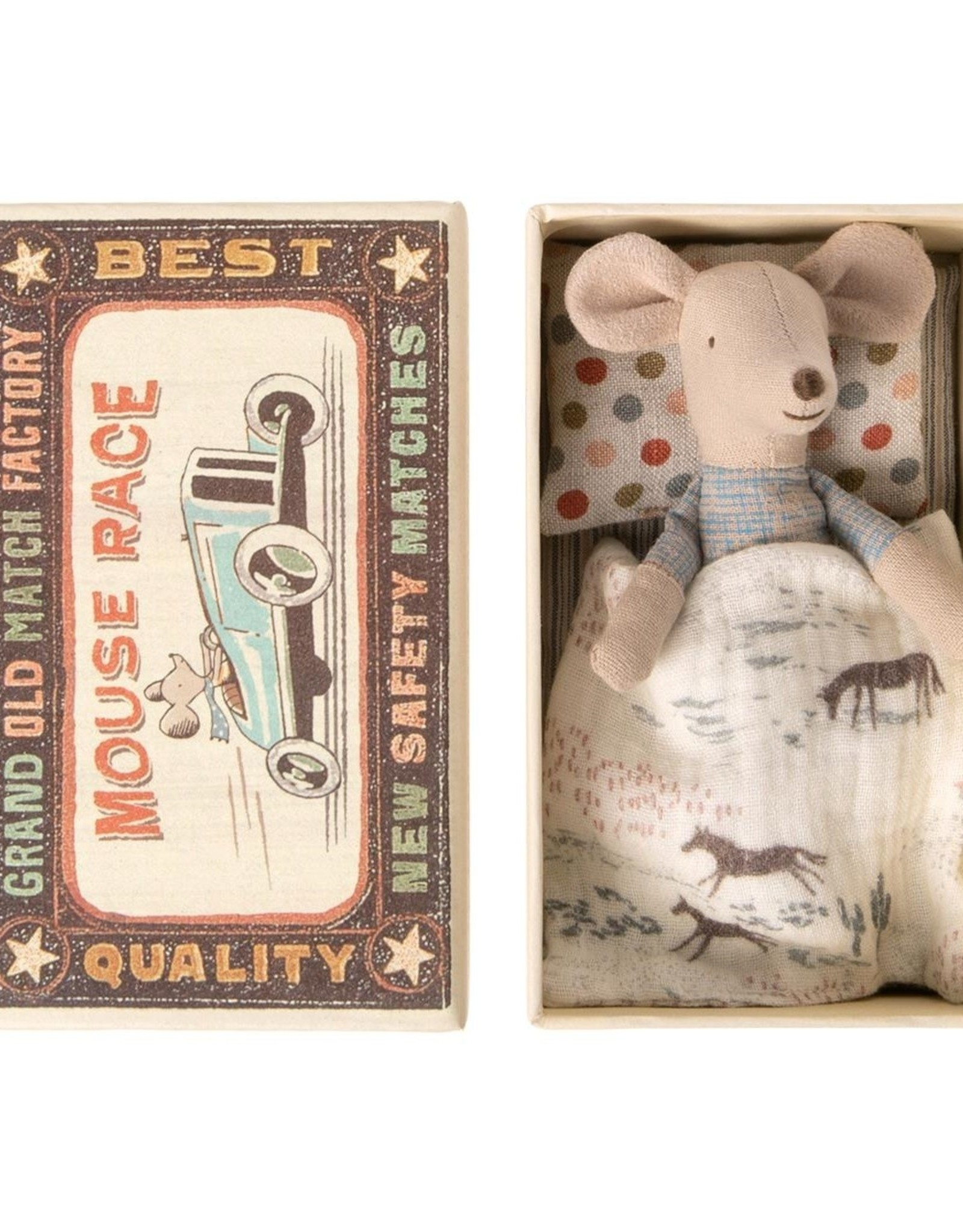 Maileg Little Brother Mouse in Match Box  - 10 cm