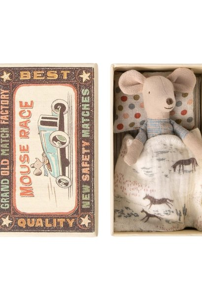 Little Brother Mouse in Match Box  - 10 cm