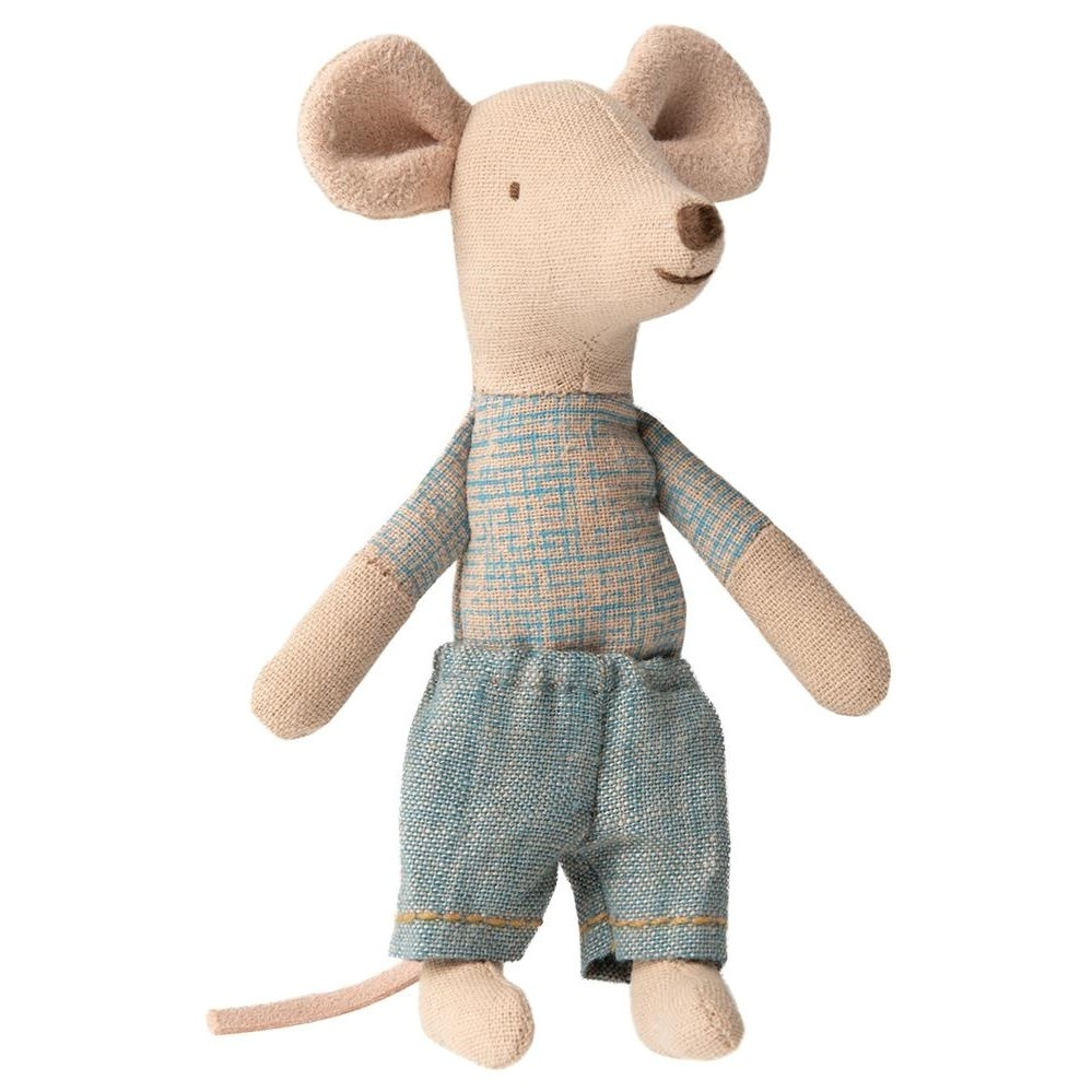 Little Brother Mouse in Match Box  - 10 cm-2