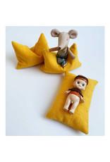 ApplesauceAndKetchup  Beanbag Dollhouse - Ocher Yellow