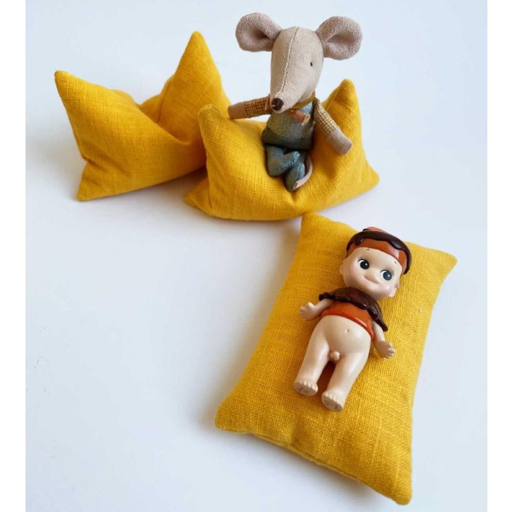 Beanbag Dollhouse - Ocher Yellow-1