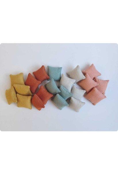 Glimmer Kussen Poppenhuis - 5 kleuren