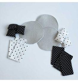 ApplesauceAndKetchup Beddengoed Stapelbed + Vloerkleed Zwart/Wit