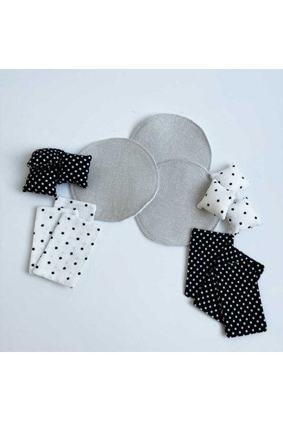 Beddengoed Stapelbed + Vloerkleed Zwart/Wit