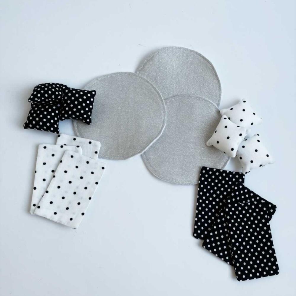 Beddengoed Stapelbed + Vloerkleed Zwart/Wit-1