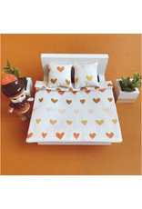 ApplesauceAndKetchup Bedding Dollhouse Double bed Hearts
