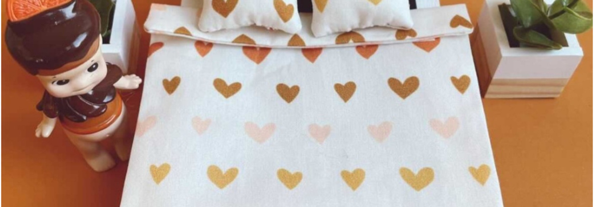 Bedding Dollhouse Double bed Hearts