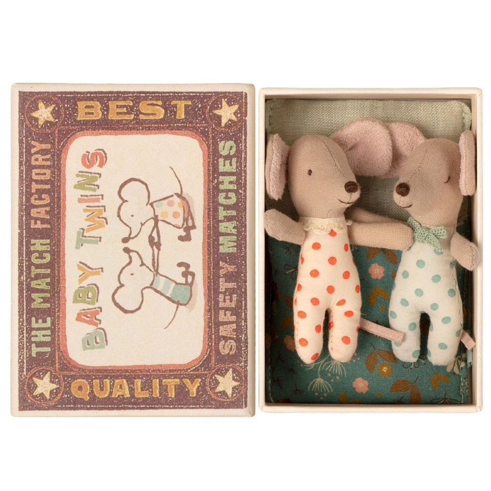 Baby Twins in Matchbox - 8 cm-1