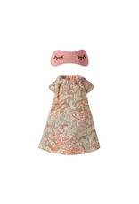 Maileg Nightgown with Sleeping Mask - Mother Mouse