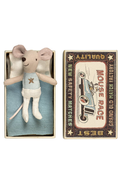 Little Brother Mouse in Matchbox - 10 cm