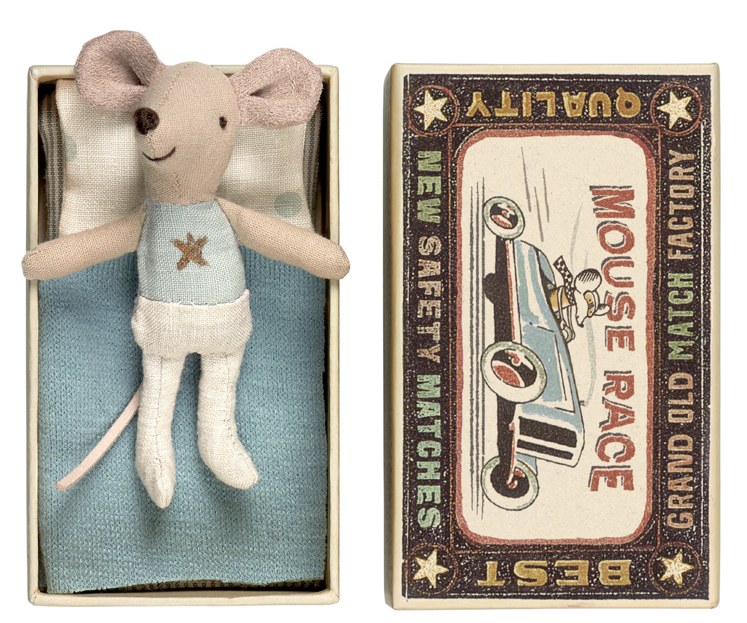 Little Brother Mouse in Matchbox - 10 cm-1