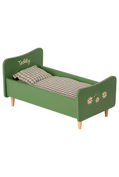 Wooden Bed- Teddy Dad - Green
