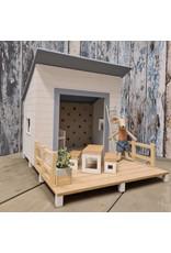 Project Dollhouse Beach House Blurry Blue
