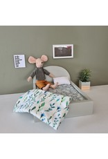 Project Dollhouse Bed for Maileg Mouses Big - Gentle Green