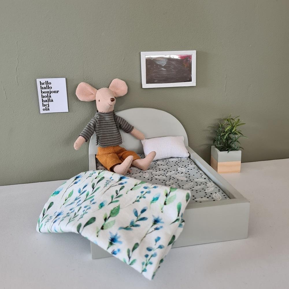 Bed voor Maileg muisjes Groot - Gentle Green-3
