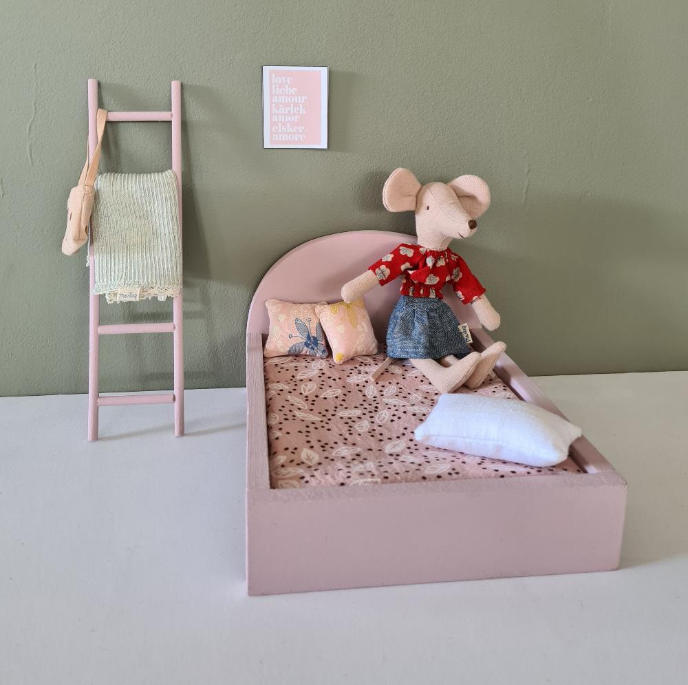 Bed voor Maileg muisjes Groot - Precious Pink-3