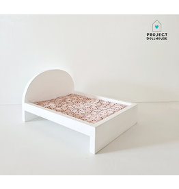 Project Dollhouse Bed voor Maileg muisjes Groot - Wit