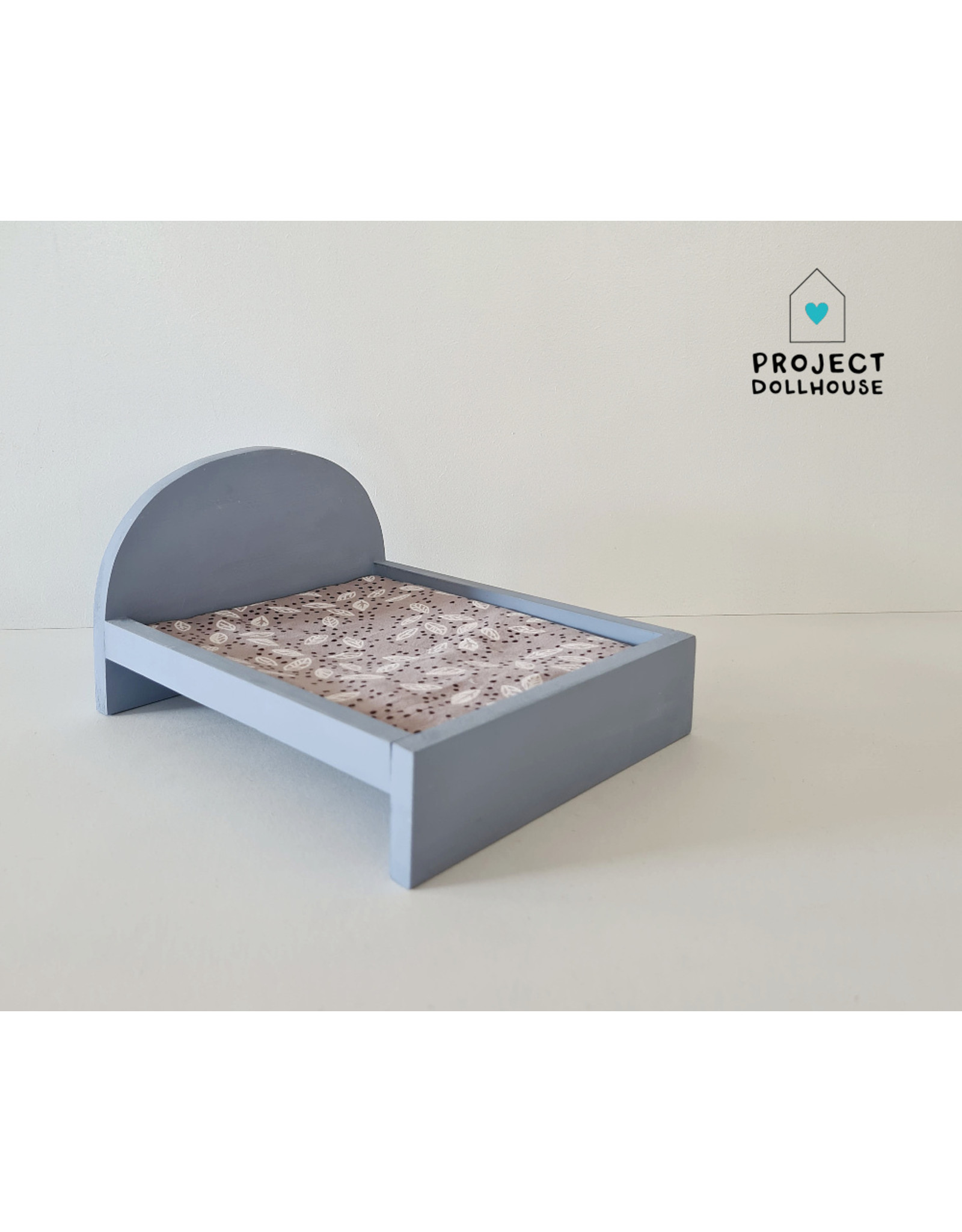 Project Dollhouse Bed voor Maileg muisjes Groot - Blurry Blue