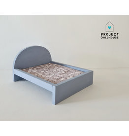 Project Dollhouse Bed for Maileg Mouses Big - Blurry Blue
