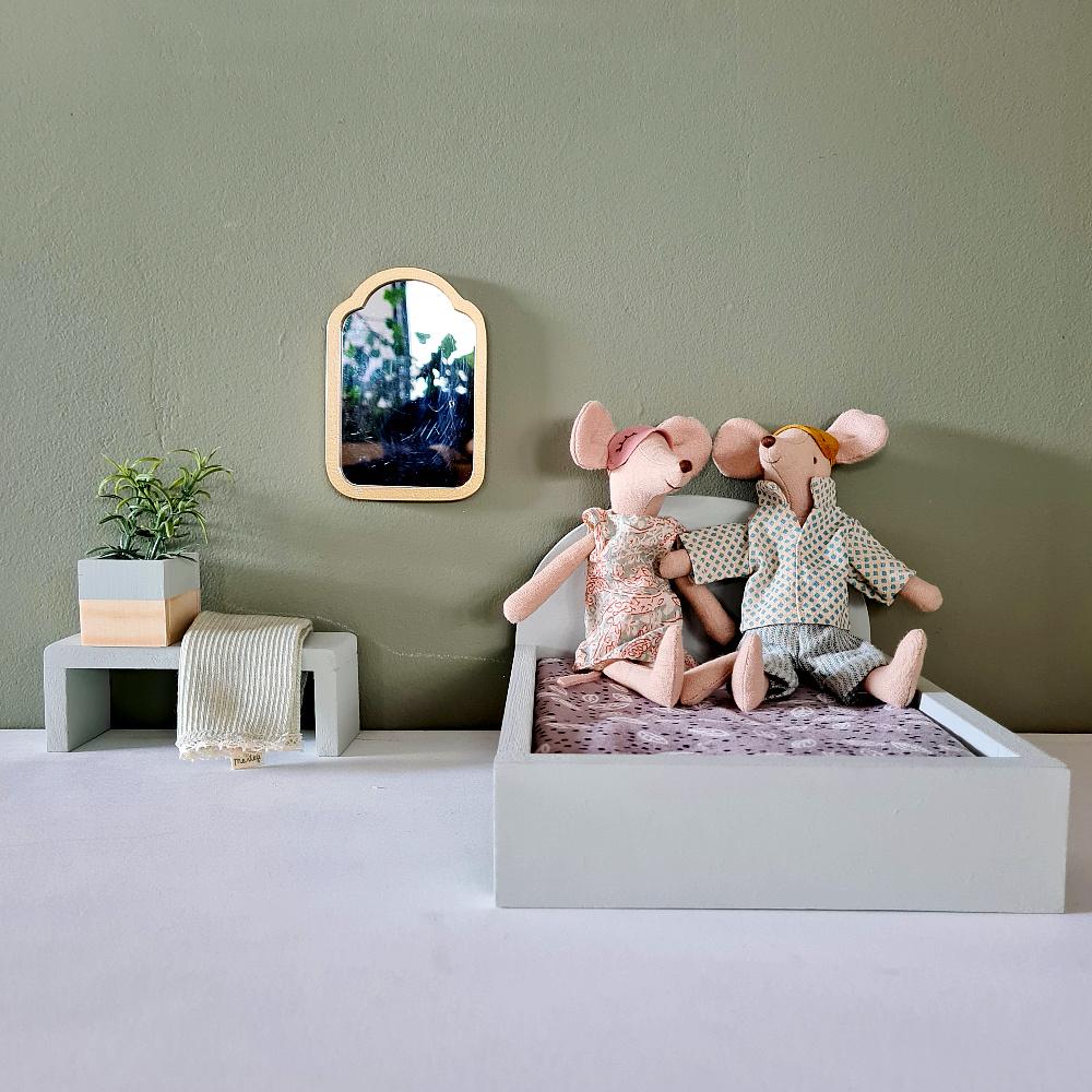 Bed voor Maileg muisjes Groot - Gentle Green-2