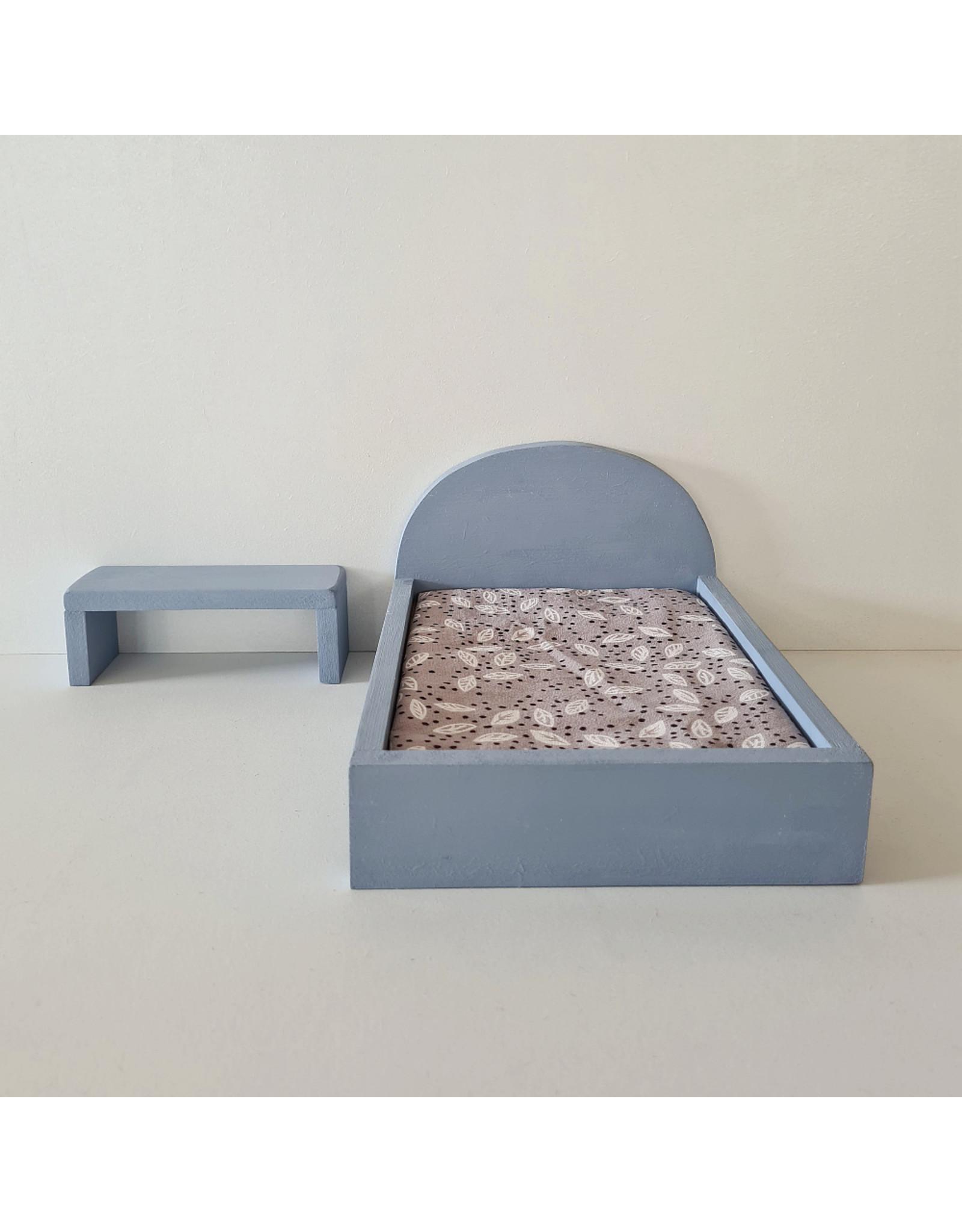 Project Dollhouse Bijzet Tafel voor Maileg Bed - Blurry Blue