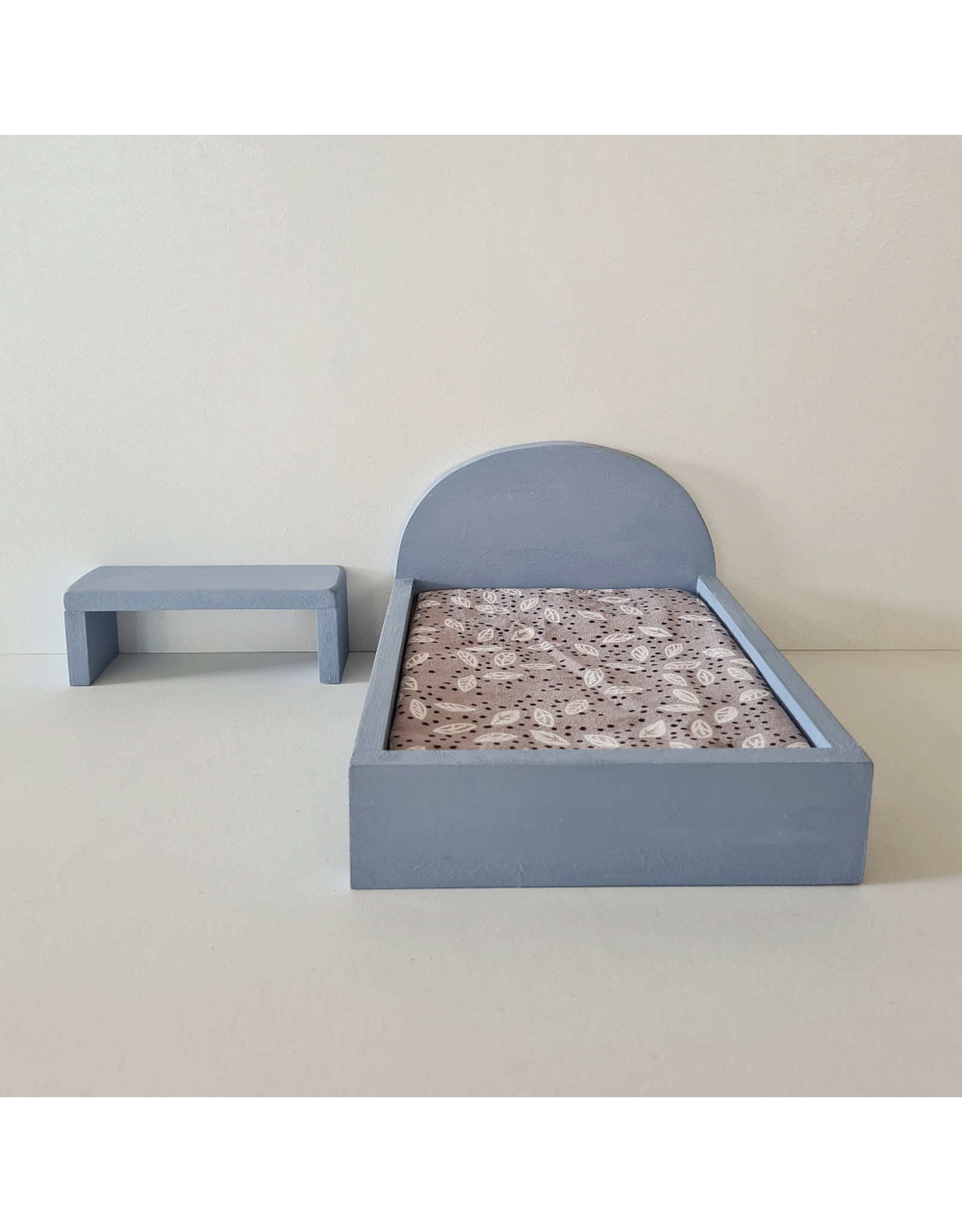 Project Dollhouse Side Table for Maileg Bed - Blurry Blue