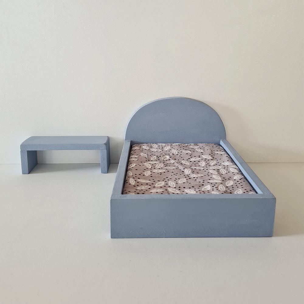 Bijzet Tafel voor Maileg Bed - Blurry Blue-2