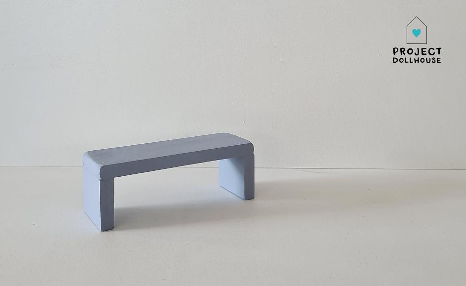 Bijzet Tafel voor Maileg Bed - Blurry Blue-1
