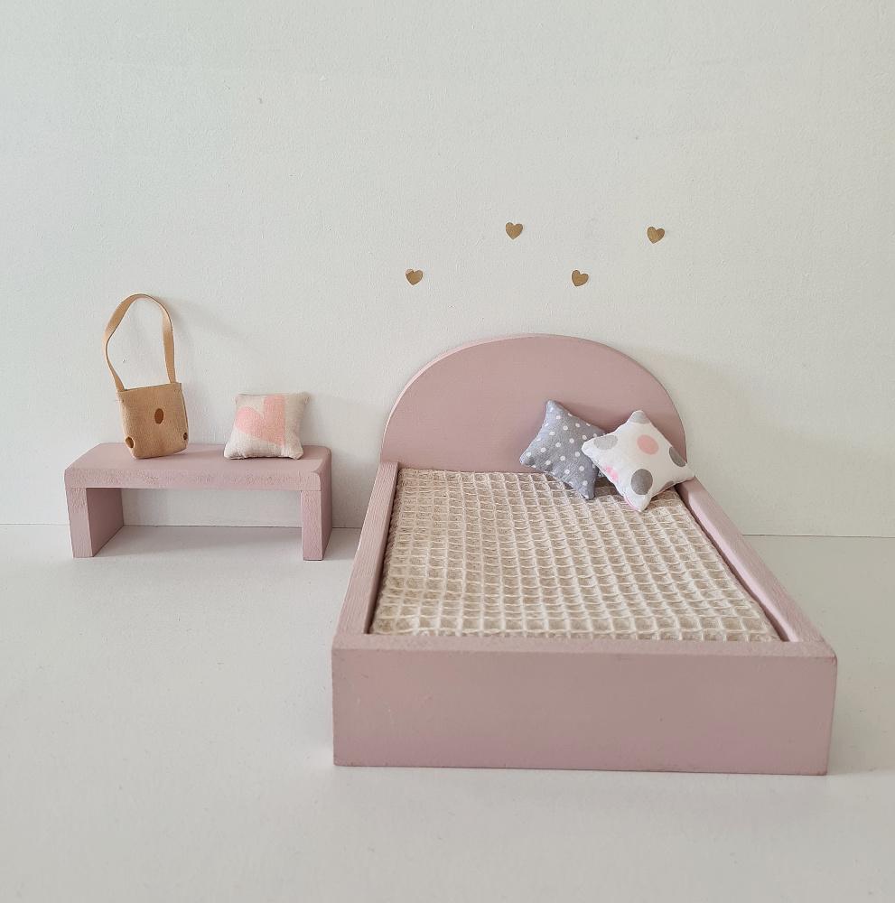 Bijzet Tafel voor Maileg Bed - Precious Pink-2