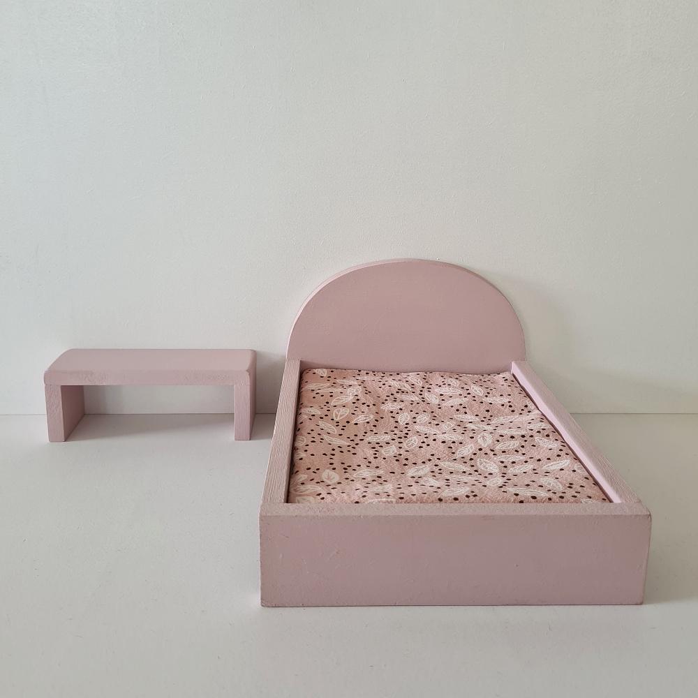 Bijzet Tafel voor Maileg Bed - Precious Pink-3