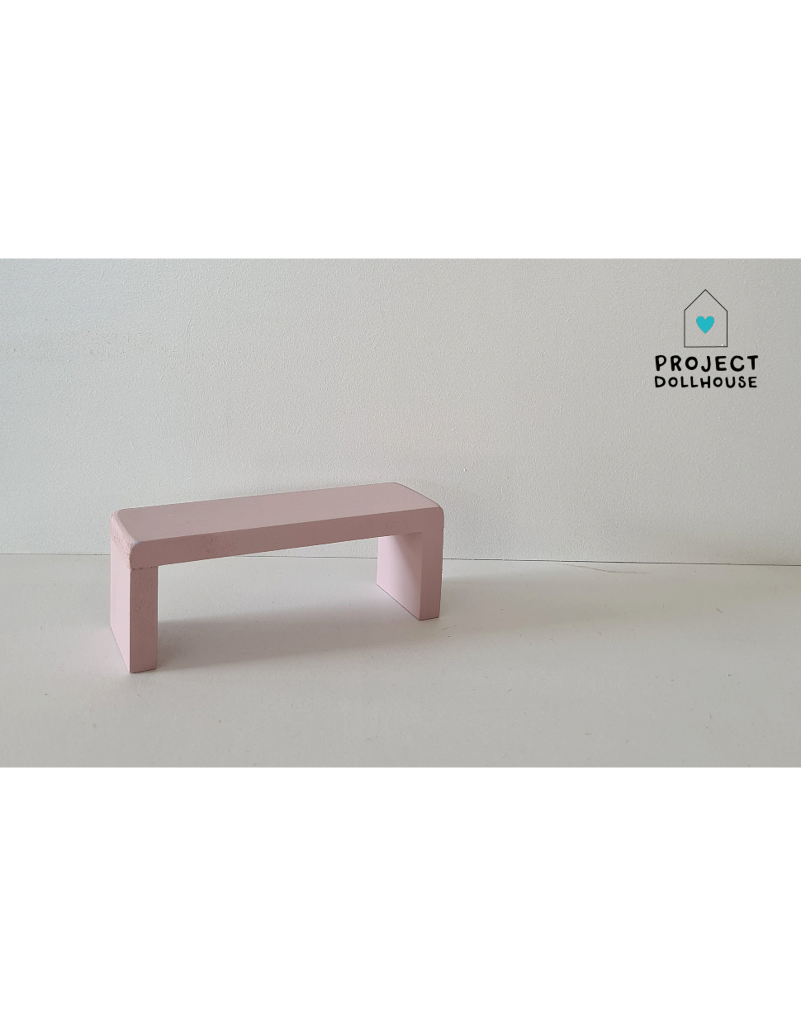 Project Dollhouse Side Table for Maileg Bed - Precious Pink