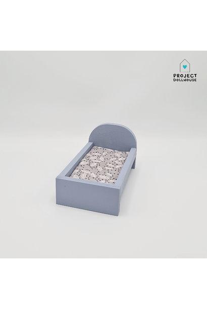 Bed voor Maileg Muisjes Klein - Blurry Blue