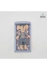 Project Dollhouse Bed for Maileg Mouses Small - Blurry Blue