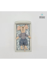 Project Dollhouse Bed for Maileg Mouses Small - Gentle Green