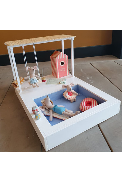 Dollhouse Swimming Pool with Pergola and Swing
