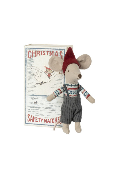 Christmas Mouse Big Brother in Matchbox