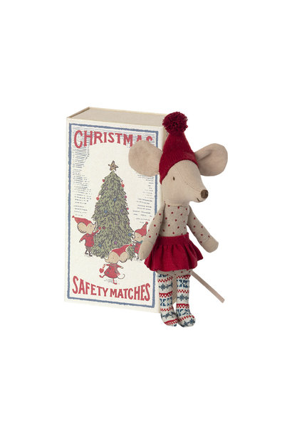 Christmas Mouse in Matchbox - Big Sister