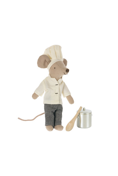 Chef Mouse with Soup Pot and Spoon
