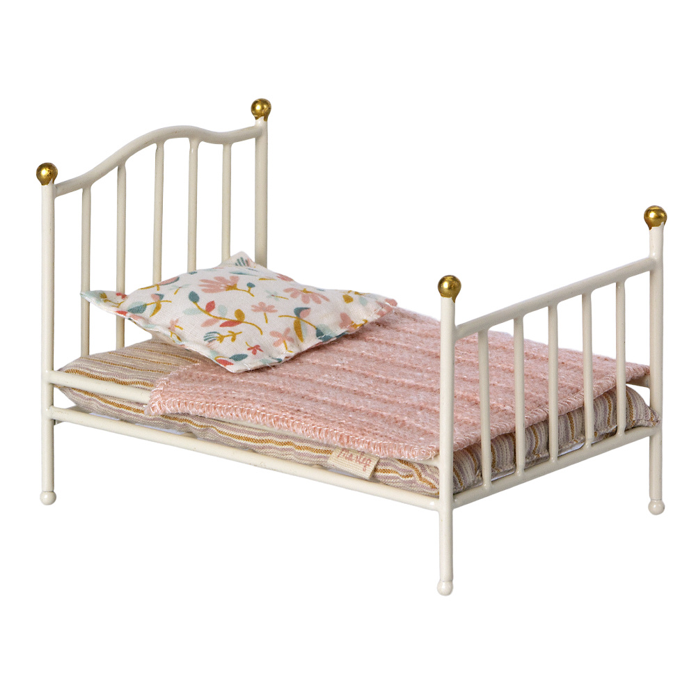 Vintage Bed Small White-2