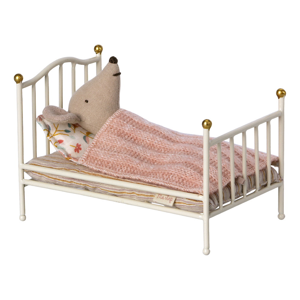 Vintage Bed Small White-1