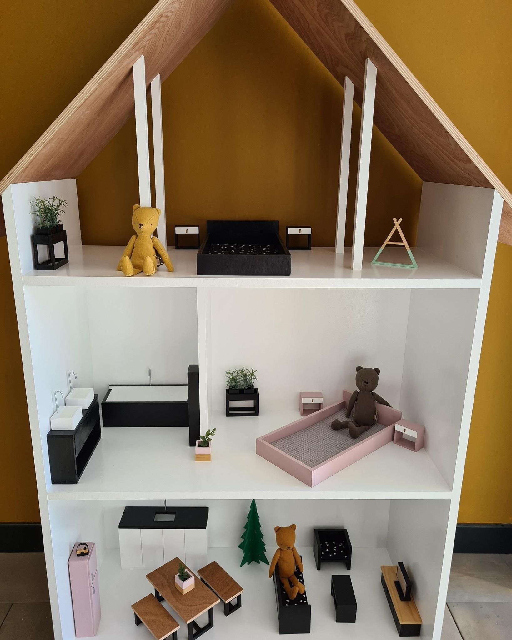 Maatwerk Minthe poppenhuis in barbie  formaat-1