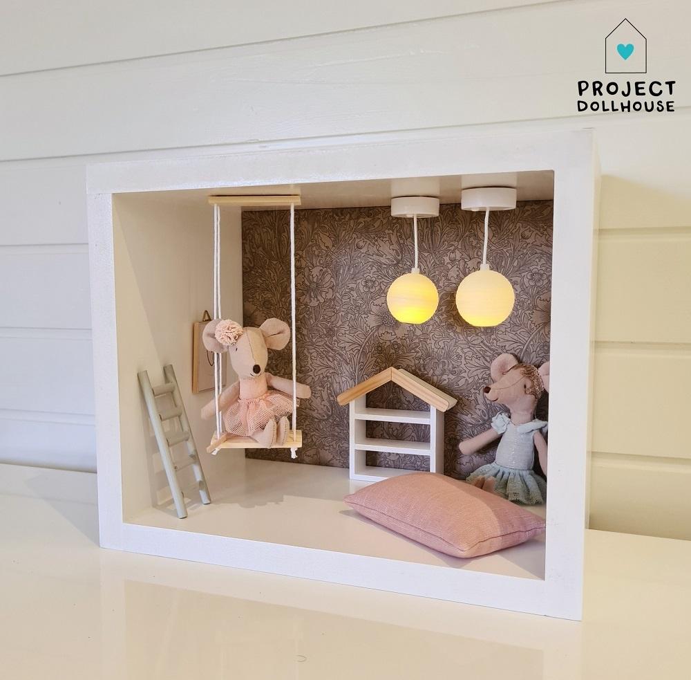 Mini Dollhouse Rectangle-3