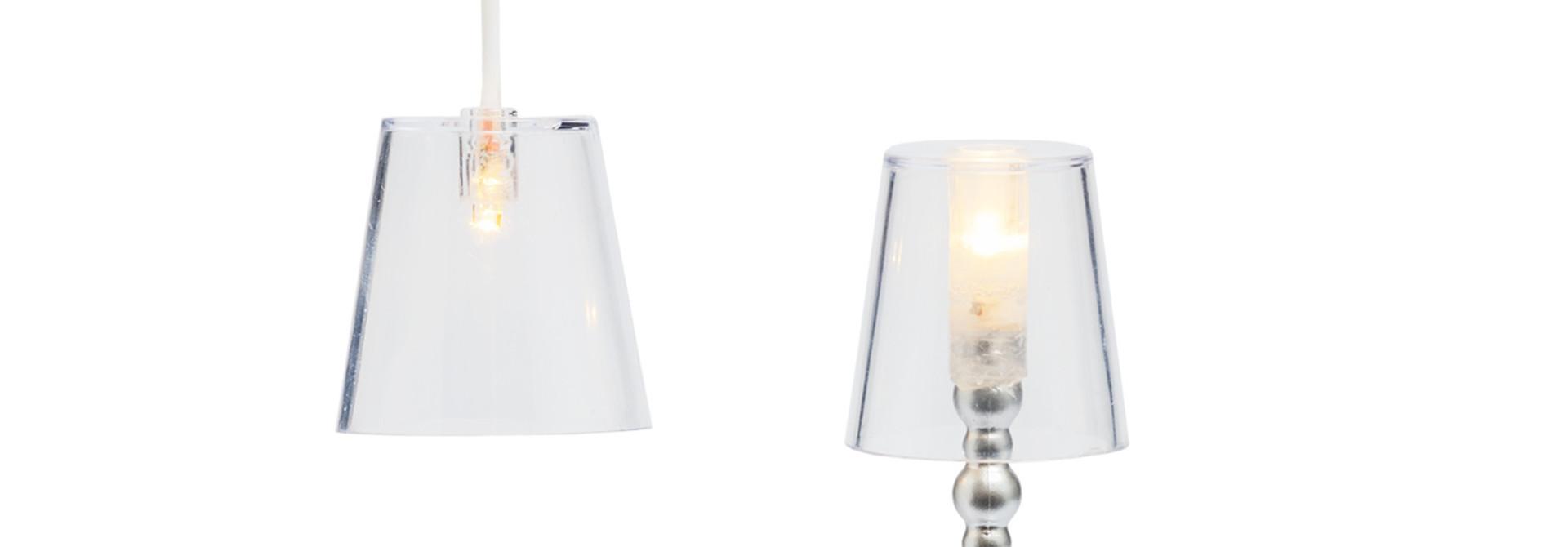 Lampen Transparant Vloer- + Hanglamp