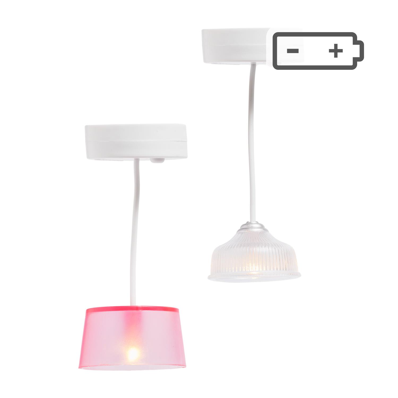Hanglampen (wit/roze)-5