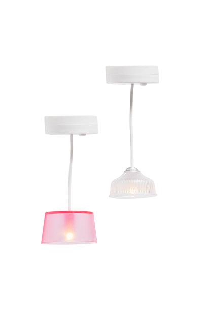 Hanglampen (wit/roze)