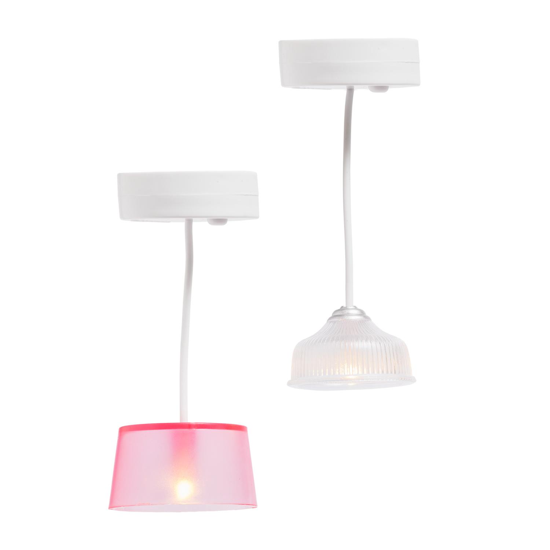 Hanglampen (wit/roze)-1