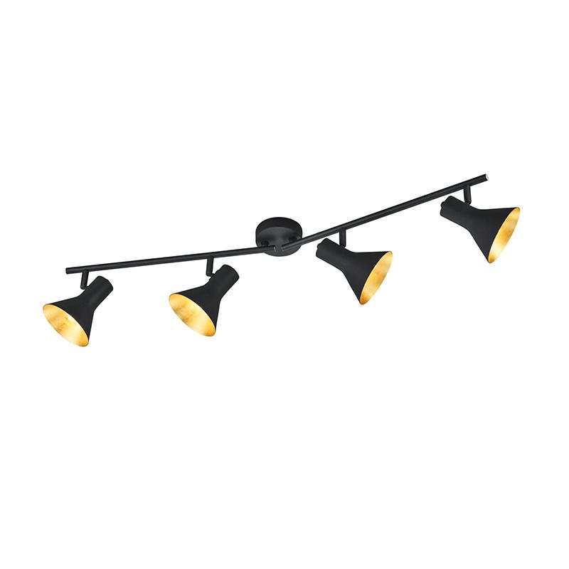 Plafondlamp Nina - Metaal - 4 Lichtbronnen - Zwart